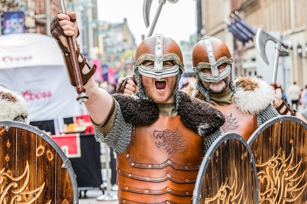Shetland Vikings visit modern Glasgow Image by: Malcolm McCurrach Thu, 20, July, 2017 | © Malcolm McCurrach 2017 | New Wave Images UK | All rights Reserved. picturedesk@nwimages.co.uk | www.nwimages.co.uk | 07743 719366