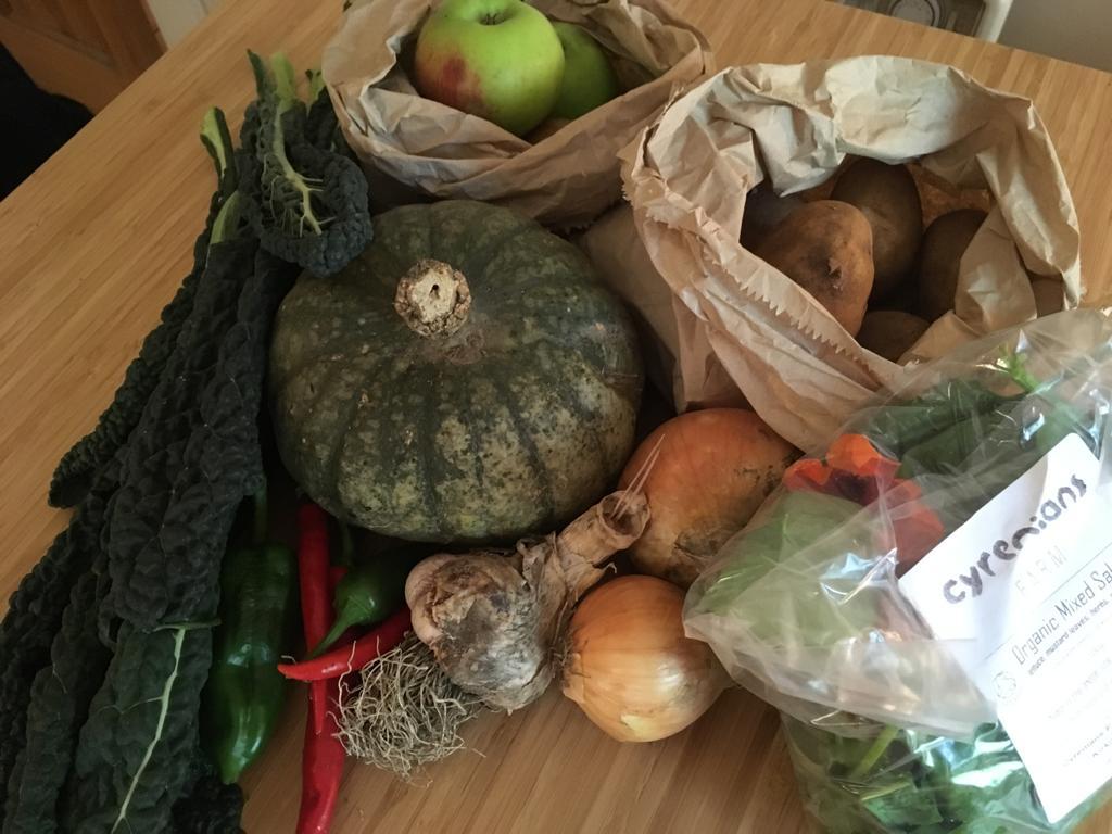 les légumes de la ferme Cyrenians à Edimbourg