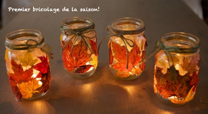 Bricolage automne et pot masson