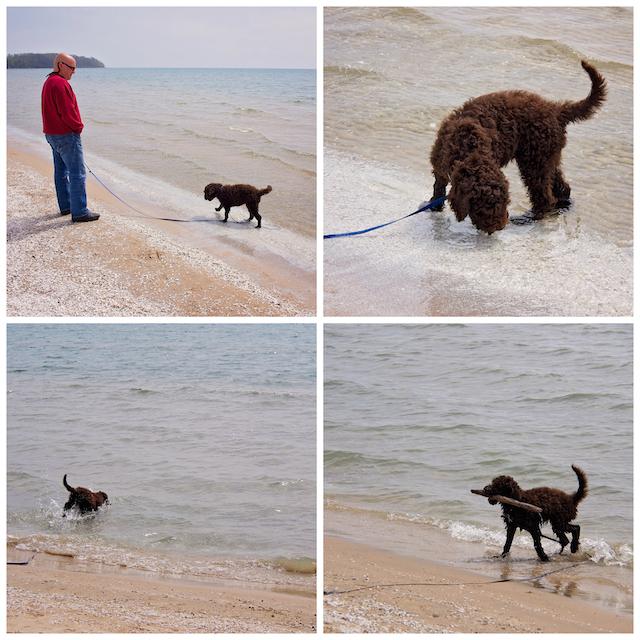 Kabir à la plage