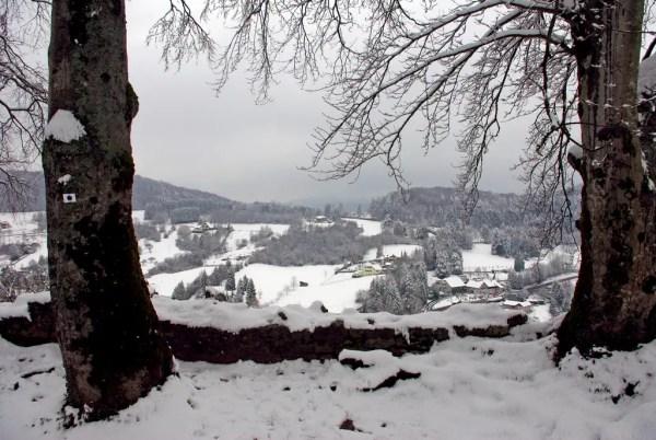 La neige est tombée sur le Sundgau à Ferrette © French Moments