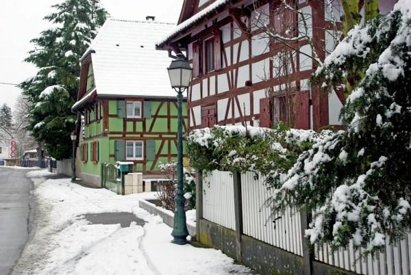 La neige est tombée sur le Sundgau à Hirsingue © French Moments