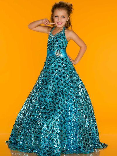 Sugar By Mac Duggal 42879S Glitzy Girls Pageant Dress
