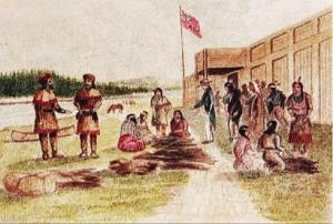 Hudson's Bay Company, Fort Walla Walla at Wallula (Joseph Drayton, 1841).