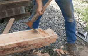 Shaping the logs.