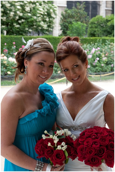 Belle Momenti teal bridesmaid