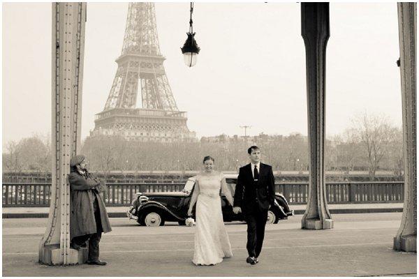 noiva torre Eiffel