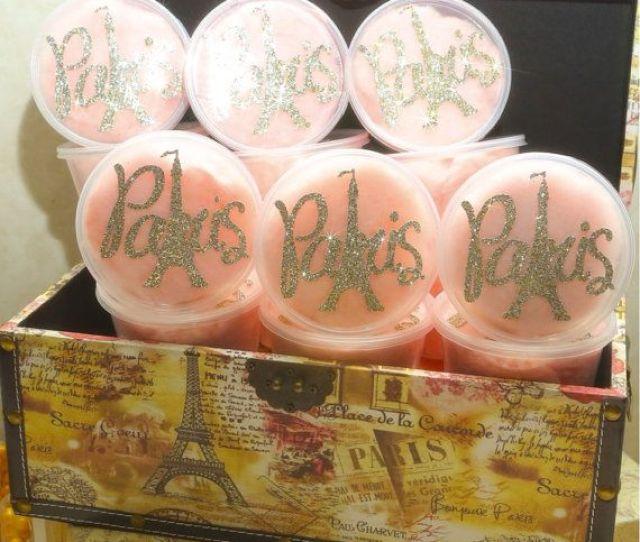 Paris Themed Favors Cotton Candy Paris Pots