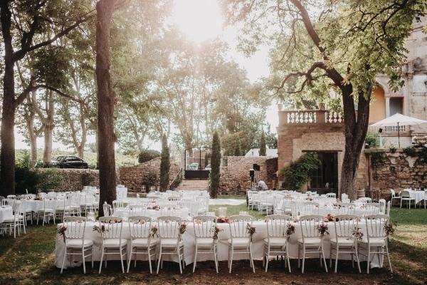 configuration de table de mariage français