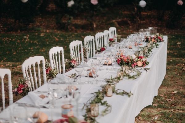 rose français romantique table française