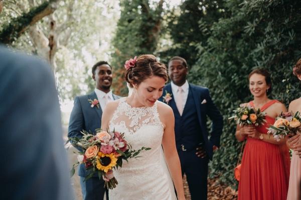 bouquet de mariée tournesol