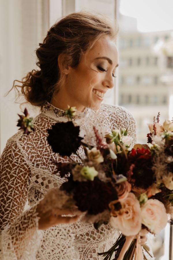 Bouquet de mariée Elopement à Paris
