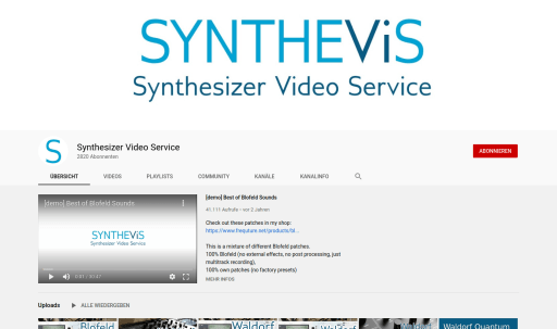 Synthevis on YouTube