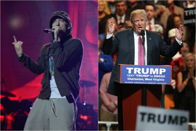 "Eminem Says ""Motherf*** Donald Trump"" at Concert"