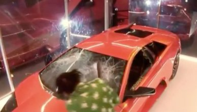 Lamborghini Destroyed During Kendrick Lamar's BRIT Awards Performance