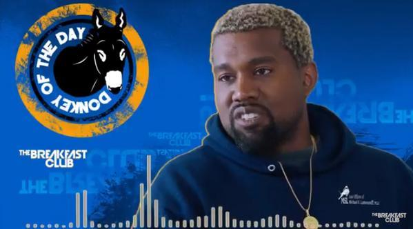 "Kanye West Gets ""Donkey Of The Day"" After Saying Slavery Was A Choice!"