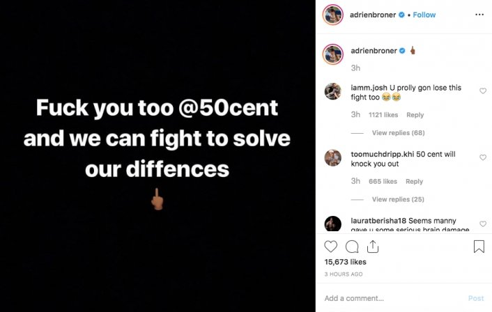 50 Cent Blocked Adrien Broner and Broner Responds