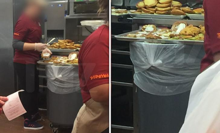 POPEYES CHICKEN SANDWICH MADE ON TRASH BIN Owner Apologizes, Explains