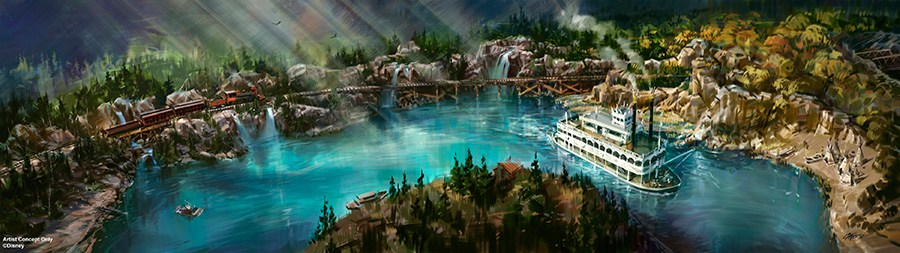 Star Wars Land concept art - Rivers of America