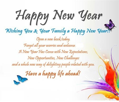 happy new year family greetings