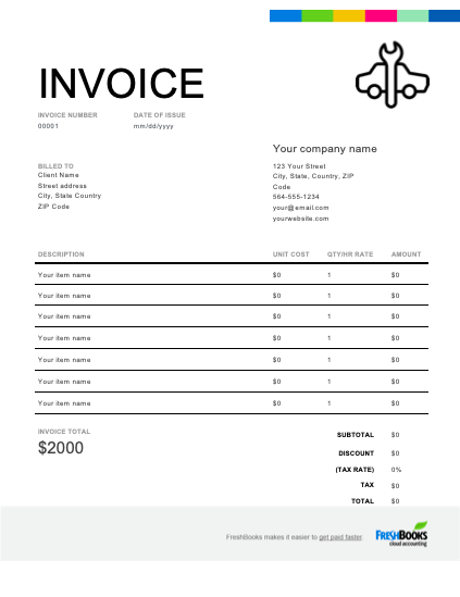 It will be important that every section is completed in this paperwork since the finished product will define what both parties must be able to agree to. Auto Repair Invoice Template Free Download Send In Minutes
