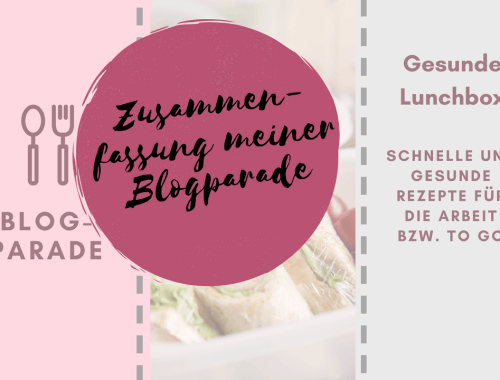 Blogparade Gesunde Lunchbox