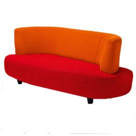 Funky contemporary love seat sofa