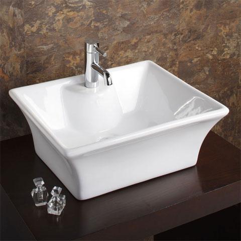 Bali square counter top basin