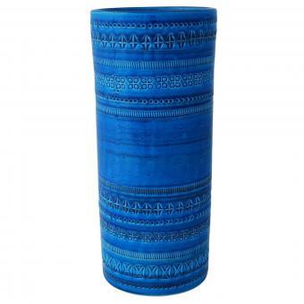 Handmade Rimini Blu Tall Cylindrical Vase