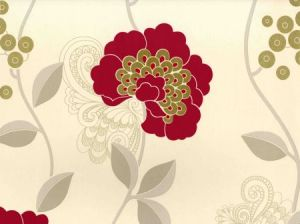 Villa Nova Florence raspberry wallpaper