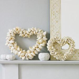 Decorative shell hearts