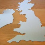 Unusual UK map mirror