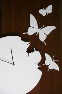 Trendy butterfly clock