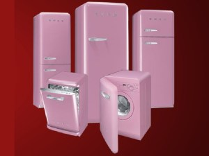 Smeg retro pink appliances