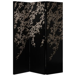 Black oriental screen