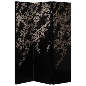 Black oriental screen