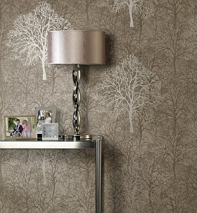 Silvery tree wallpaper