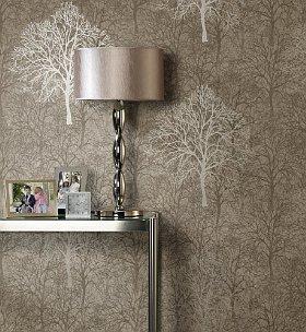 Silvery tree wallpaper