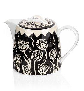 Modern floral teapot