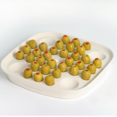 Ceramic olive solitaire board