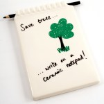 Clever ceramic notepad