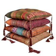 Antique sari chair pad cushions from Myakka
