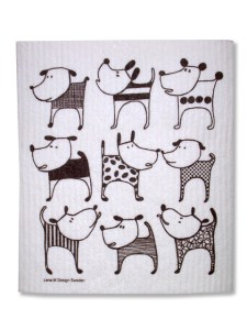 Designer dog dishcloth