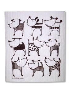 Designer dog dishcloth