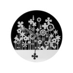 Karlsson Flower Field glass clock