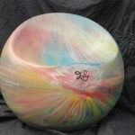 Pastel rainbow ball chair from Bouf