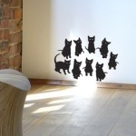 Cute kitten vinyl wall stickers