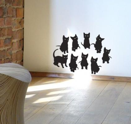 Cute kitten vinyl wall stickers
