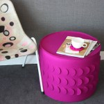 Selina Rose scale stool and flutterby cushions