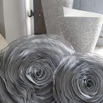 Chiffon rose design 3D cushion